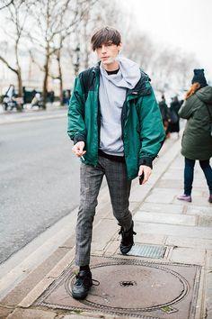 Fashion Week homme Street looks Paris automne hiver 2016 2017 92