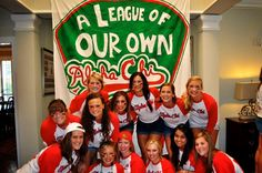 A League of our Own. Love the banner. If only the shirts were green and gold and had Philalethean on them!:)