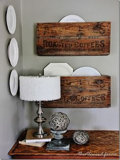 DIY Coffee Crates organizers-project