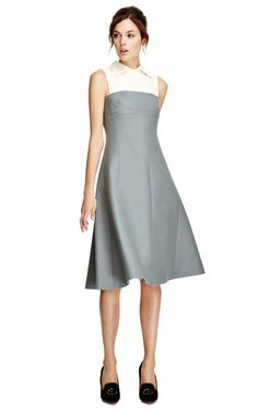 Wool and Silk Blend Flared Dress by Valentino