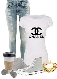 """Casual is ON"" by monmondefou ❤ liked on Polyvore"