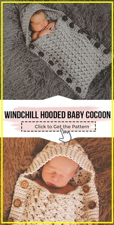 crochet Windchill Hooded Button Up Baby Cocoon easy pattern crochet Windchill Hooded Button Up Baby Cocoon easy pattern - easy crochet baby-cocoon pattern for beginners Crochet Baby Cocoon Pattern, Crochet Baby Cardigan, Crochet Baby Clothes, Newborn Crochet, Baby Knitting Patterns, Baby Blanket Crochet, Crochet Baby Stuff, Baby Patterns, Crochet Patterns