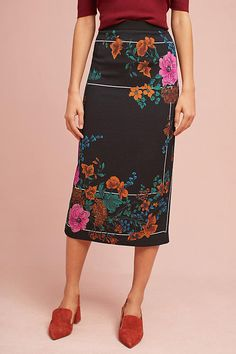 Slide View: 2: Tracy Reese Silk Floral Skirt