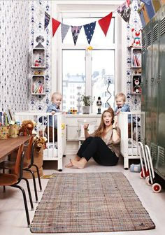 When the boys were this age, their bedroom was about this size; NEVER this adorable, but this photo brings back sweet memories ;)