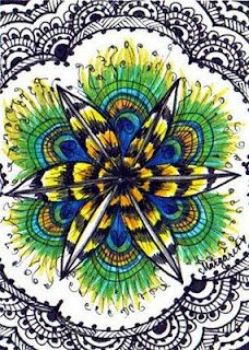 Peacock & Lace by Water Blossoms / feather and plume kaleidoscopic mandala |Pinned from PinTo for iPad|
