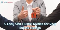 Even if you've been in the business as a real estate agent for some time and you are doing well, these side hustle ideas can help you continue to grow your business creatively. Real Estate Career, Real Estate Business, Real Estate Companies, Stage House For Sale, Career Options, Teaching Jobs, Estate Agents, Hustle, How To Become