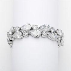 Elena Bridal Bracelet : Bold Teardrop Event Bracelet | www.glamadonnashop.com.au