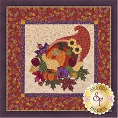 Bountiful Harvest Wall Hanging Pattern: Add a touch of Thanksgiving to your home with this Bountiful Harvest wall hanging! Finishing to 39