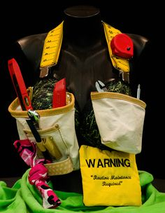 Warning: Routine Maintenance Required (Bra Creator(s): Amber Cowan and Mitch Neal - Registered By: Quality/Risk/Infection Control) Decorated Bras, Bras Best, Infection Control, Ladies Night, Fundraising, The Creator, Amber, Routine, Cat