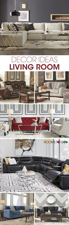 Looking for decor ideas for your living room? Add accent pieces, wall art, rugs, lighting and pillows to make your home look more stylish. Visit Rooms To Go now to find the right pieces for your living room!