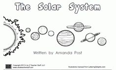 Printable Book About the Planets: The Solar System   A to Z Teacher Stuff Printable Pages and Worksheets