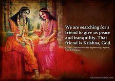 Srila Prabhupada on Krishna - Our Friend Krishna Leela, Jai Shree Krishna, Cute Krishna, Krishna Radha, Hanuman, Durga, Radha Krishna Love Quotes, Lord Krishna Images, Radha Krishna Pictures
