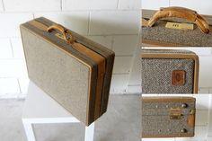 Large Vintage Hartmann Tweed Suitcase  Excellent by VerdiBou, $200.00