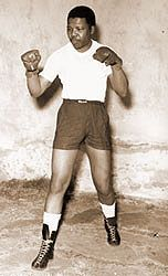 As a young man, he was a heavyweight boxer....