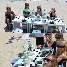 Breakfast at Tiffany's... little girl party theme and on the beach fabulousness