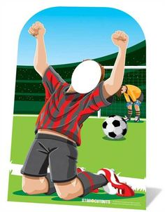 b522faa3e37 World Cup Footballer Child Size Cardboard Stand-in Cutout   Standup.  Perfect for kids