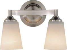 """9.5"""" Width: 12.75"""" (measured from furthest point left to furthest point right on fixture) Extension: 6""""  View the Murray Feiss VS9402 Paris Moderne 2 Light Bathroom Vanity Light at LightingDirect.com."""