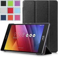 Asus Zenpad S 8.0 (Z580C/Z580CA) Case - HOTCOOL Ultra Slim Lightweight SmartCover Stand Case For 2015 Released Asus Zenpad S 8.0 Z580C / Z580CA Tablet, Black