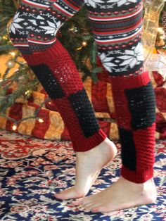 :: cable knit leg warmers ::