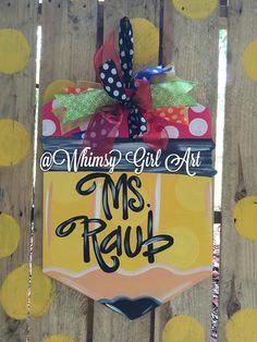 Pencil Door hanger by WhimsyGirlArt on Etsy