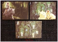 "Mini Carte ghibli totoro kiki chihiro arrietty ponyo mononoké asiatique ""modéle 6"" x1 : Papeterie, carterie par lilycherry"