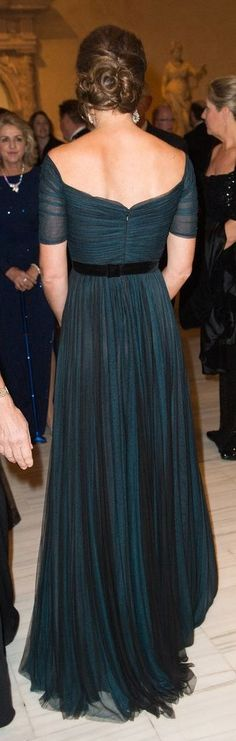 The back of Kate Middleton's gorgeous Jenny Packham gown.
