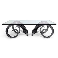 "Jonathan Adler - Aries Cocktail Table Rams Head 54""W x 30""D x 18.65""H"