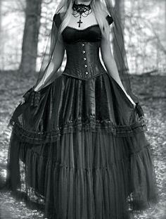 goth girl:   I'd have this for a wedding dress.