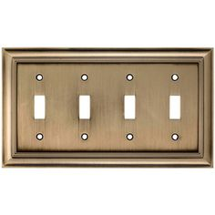 Antique Brass Wall Plates Amazing Allen  Roth 1Gang Antique Brass Standard Duplex Receptacle Metal Review