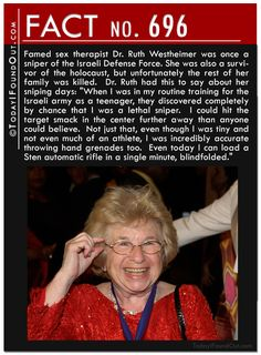Dr. Ruth's personal life is way more interesting than any of her sex advice.