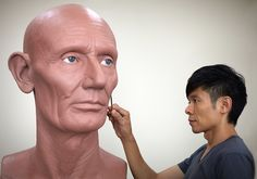 Kazuhiro Tsuji is a contemporary hyperrealist sculptor living and working in Los Angeles. After working 25 years as a special effects makeup artist in Hollywood, Kazu decisively shifted focus in 2008, dedicating himself full time to fine art sculpture. Using resin, platinum silicone, and many other materials, Kazu constructs three-dimensional portraits in a scale two times life size.   - See more at: http://kazustudios.com/about/#sthash.icsShyKJ.dpufIMG_0059 copy.jpg