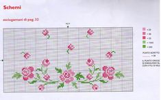 bump-is-the-cloth embroidery stitches template 2 of 2 Beaded Cross Stitch, Cross Stitch Rose, Cross Stitch Baby, Cross Stitch Flowers, Cross Stitch Embroidery, Free Cross Stitch Charts, Cross Stitch Borders, Cross Stitching, Cross Stitch Patterns