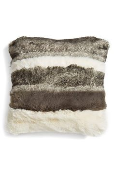 Nordstrom at Home Faux Fur Pillow available at #Nordstrom
