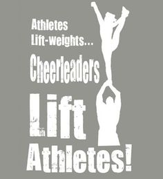 Yes, exactly, we cheerleaders rule! Cheer is much of a sport than any other sport out there!