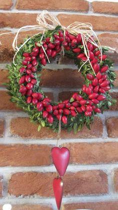 šípkový věneček This is so sweet. Christmas Trimmings, Christmas Wreaths, Xmas Pictures, Cute Diy Projects, Cottage Garden Design, Fall Decor, Holiday Decor, Autumn Wreaths, Autumn Theme