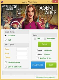 Agent Alice Hack – Unlimited Cash and Energy Cheats Engine download for mobile. Download Agent Alice Hack – Unlimited Cash and Energy Cheats Engine full version. Agent Alice Hack – Unlimited Cash and Energy Cheats Engine for Mac, iOS and Android. Last version of Agent Alice Hack – Unlimited Cash and Energy Cheats Engine