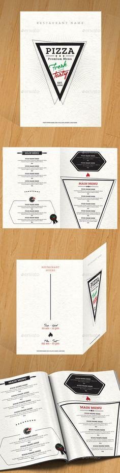 Pizza Menu — Photoshop PSD #pizza marketing #restaurant menu • Available here → https://graphicriver.net/item/pizza-menu/12113731?ref=pxcr