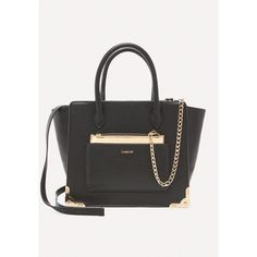 Bebe Women's Blair Metal Trim Tote ($109) ❤ liked on Polyvore featuring bags, handbags, tote bags, blk, pocket tote bag, vegan leather tote bag, pocket pouch, metallic tote and vegan leather tote