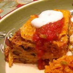 Seven Layer Tortilla Pie Allrecipes.com