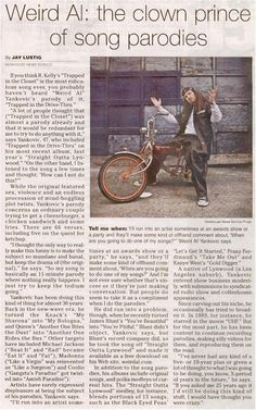"Good ""Weird Al"" article. Click on image to see larger."