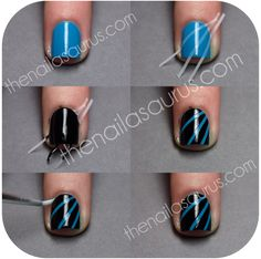 Disco/Laser/Moonbeam Mani Tutorial. Step by Step breakdown at thenailasaurus.com #nails