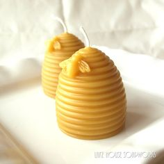 Grown-up party favor: Beeswax votive candles - LakeHouseSoapWorks.etsy.com