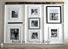 DIY Built in Picture Frame Ledge