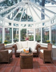 Conservatory roofs whether for your new conservatory or a replacement conservatory roof. We manufacture made-to-measure polycarbonate and glass DIY conservatory roofs. Conservatory Interiors, Victorian Conservatory, Conservatory Design, Victorian Homes, Conservatory Extension, Shabby Chic Greenhouse, Outdoor Furniture Sets, Outdoor Decor, Indoor Outdoor