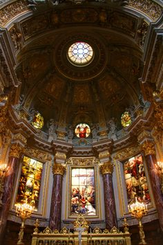 The Altar and Chancel in the Berliner Dom (Berlin Cathedral)