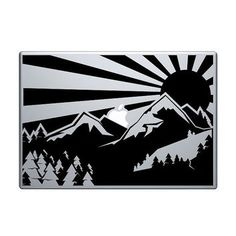 Custom Vinyl Mountain Range Personal Computer Decal For MacBook - Custom vinyl decals for macbook pro