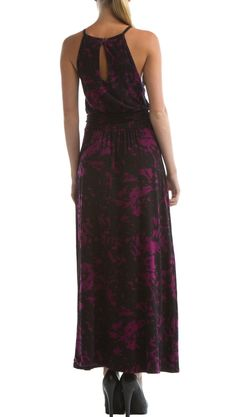 {Luna maxi-dress} by Eco Skin - love the keyhole back & the colour/pattern!