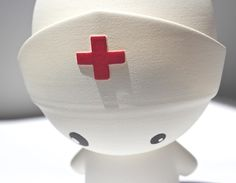 Nurse (Nylon, Air painting with acrylics)