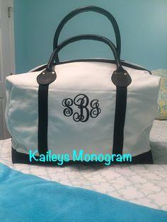 Weekender Weekender Bag Mongram Overnight by KaileysMonogramShop #monogram #wedding #bride #bridesmaidsgifts #vacation #cruise
