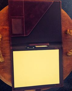 #beautiful hand made leather #A4 folder, made by us